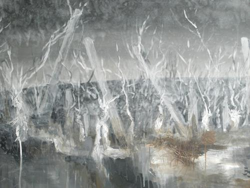 Barbara Schauß, Weinberg Mystic I, Landscapes, Abstract art, Contemporary Art, Abstract Expressionism