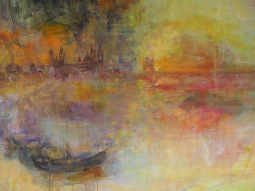 Barbara Schauß, mystic Worms, Miscellaneous Landscapes, Romantic motifs, Impressionism, Expressionism