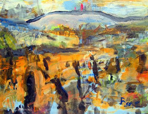 Barbara Schauß, Wingertsglühen III, Miscellaneous Landscapes, Nature: Miscellaneous, Contemporary Art