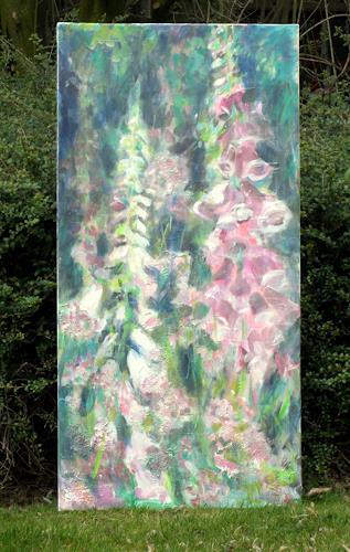 Barbara Schauß, Digitalis, Plants: Flowers, Nature, Impressionism