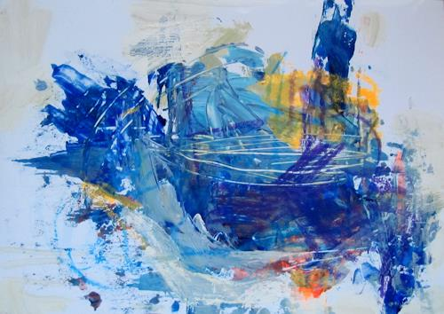 Barbara Schauß, Don`t pay the ferryman, People, Abstract art, Contemporary Art, Abstract Expressionism
