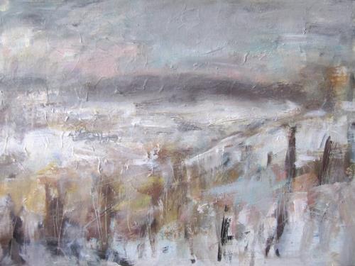 Barbara Schauß, Winter im Zellertal, Landscapes: Winter, Nature, Impressionism, Expressionism