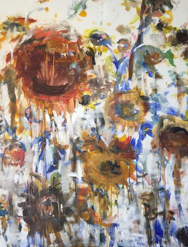 Barbara Schauß, I never promised you a rose garden, Plants: Flowers, Abstract art, Contemporary Art