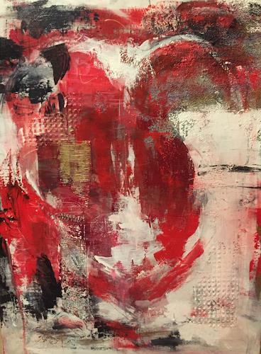 Barbara Schauß, heart, Abstract art, Emotions: Safety, Contemporary Art