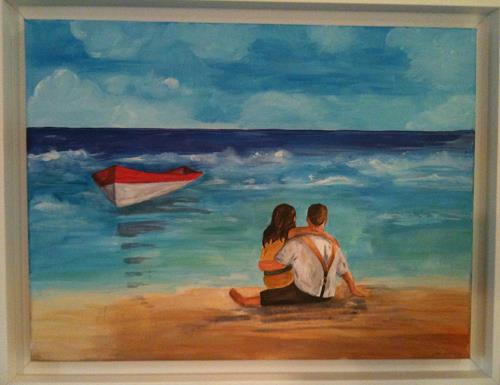 Jean, Am Meer, People: Couples, Contemporary Art