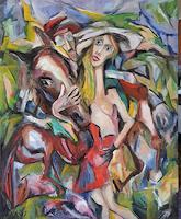 Doleta-Kaminskiene-Abstract-art-People-Modern-Age-Expressionism-Abstract-Expressionism