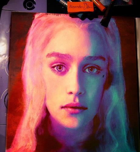 Alexander Déboir, Portrait of Daenerys Targaryen, People: Portraits, Expressionism