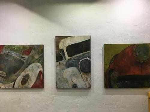 Magdalena Oppelt, Ausstellung Galerie comebeck, Abstract art, Abstract Art
