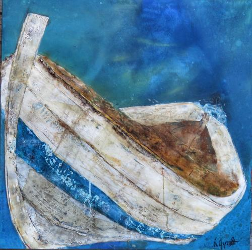 Magdalena Oppelt, Azzurro, Nature: Water, Verkehr: Ship, Concrete Art, Expressionism