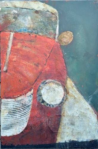 Magdalena Oppelt, Lady in red, Traffic: Car, Movement, Abstract Art