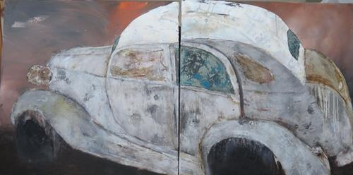 Magdalena Oppelt, Dornröschen, Abstract art, Traffic: Car, Art Déco, Expressionism