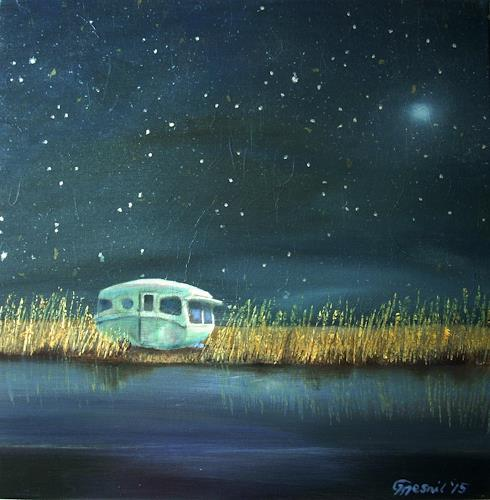 Claire Mesnil, Under the Stars, Landscapes: Sea/Ocean, Nature: Water, Contemporary Art