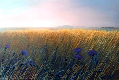 Claire Mesnil, Meadow, Miscellaneous Landscapes, Nature: Miscellaneous, Contemporary Art, Expressionism