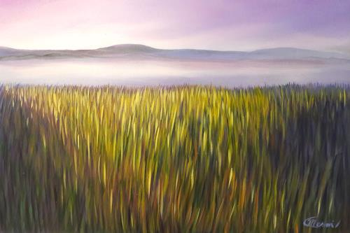 Claire Mesnil, Beside Still Waters, Miscellaneous Landscapes, Nature: Miscellaneous, Contemporary Art