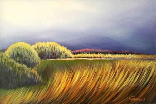 Claire Mesnil, A Break in the Storm, Miscellaneous Landscapes, Nature: Miscellaneous, Contemporary Art