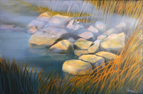 Claire Mesnil, Early Morning Sun, Landscapes, Nature, Contemporary Art