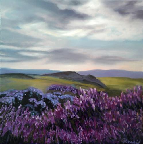 Claire Mesnil, Heather, Miscellaneous Landscapes, Nature: Miscellaneous, Contemporary Art