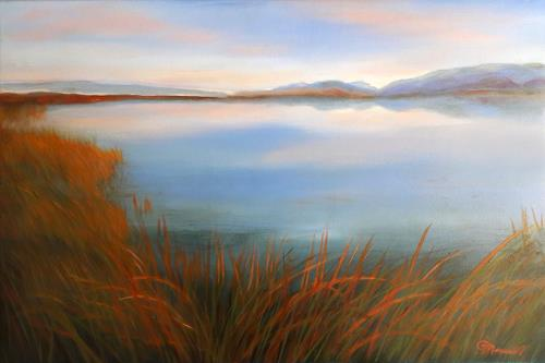Claire Mesnil, High Country Lake, Miscellaneous Landscapes, Nature: Miscellaneous, Contemporary Art