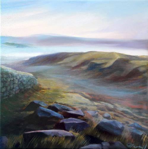 Claire Mesnil, Misty Morning Light, Miscellaneous Landscapes, Nature: Miscellaneous, Contemporary Art, Expressionism