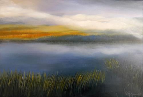 Claire Mesnil, Morning Walk, Miscellaneous Landscapes, Nature: Miscellaneous, Contemporary Art