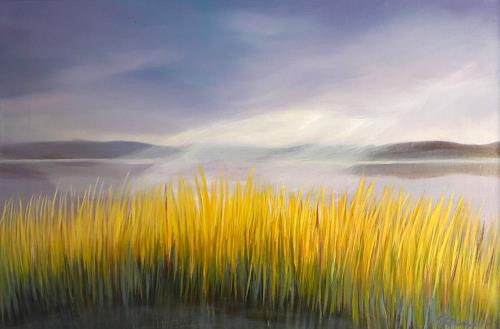 Claire Mesnil, Morning Calm, Miscellaneous Landscapes, Nature: Miscellaneous, Contemporary Art
