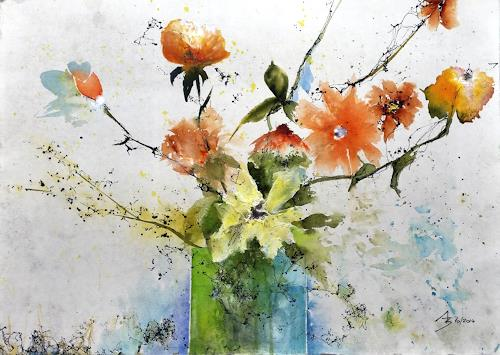 ALEX BECK, Blumenvariation, Plants: Flowers, Fantasy, Contemporary Art