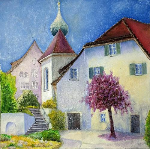 ALEX BECK, Klosterbezirk Gnadenthal Niederwil/AG, Landscapes, Buildings: Churches, Realism