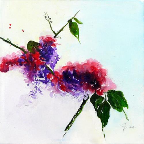 ALEX BECK, Blütenzweig, Plants, Fantasy, Contemporary Art