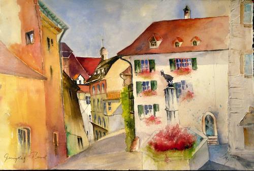 ALEX BECK, Basel mit Gemsplatz, Interiors: Cities, Architecture, Realism