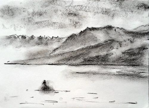 ALEX BECK, Impresionen Hallwilersee mit Pilatus, Landscapes: Winter, Nature, Expressive Realism