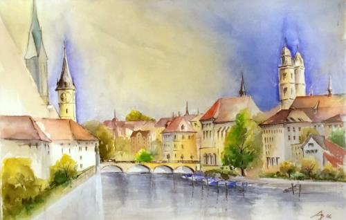 ALEX BECK, Zuerich Town, Architecture, Interiors: Cities, Realism