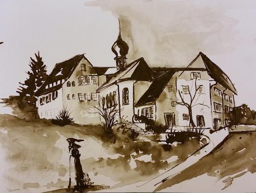 ALEX BECK, Impressionen vom Klosterbezirk Gnadenthal/Niederwi/AG, Buildings: Churches, Architecture, Realism