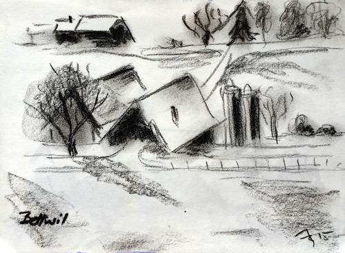 ALEX BECK, Impressionen, Landscapes: Winter, Architecture