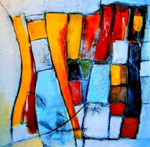 Marion Eßling, Stein an Stein, Abstract art, Abstract Art, Abstract Expressionism