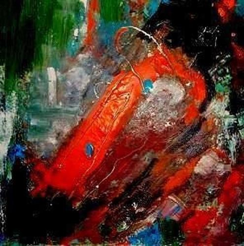 Marion Eßling, Mit dem Strom, Abstract art, Abstract Expressionism