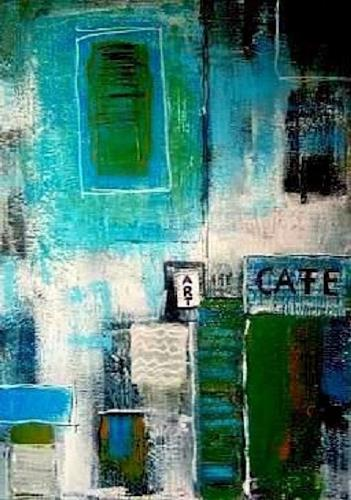 Marion Eßling, Art Cafe, Abstract art, Buildings, Abstract Art