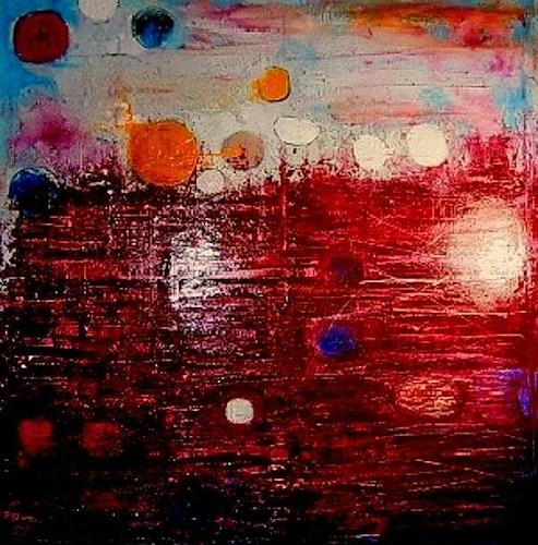 Marion Eßling, Dem Licht entgegen, Abstract art, Abstract Expressionism, Expressionism