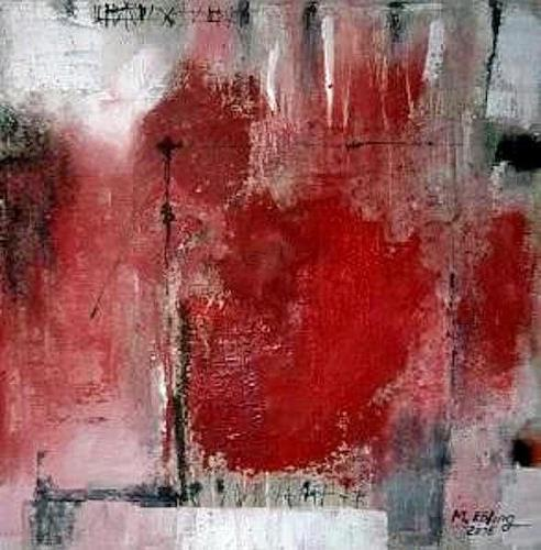 Marion Eßling, Liebesbrief 3, Abstract art, Emotions: Love, Abstract Expressionism