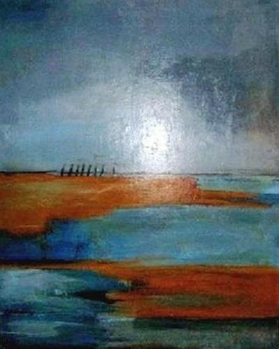 Marion Eßling, Horizonte 2 Die Weite der Landschaft, Abstract art, Landscapes: Sea/Ocean, Abstract Expressionism