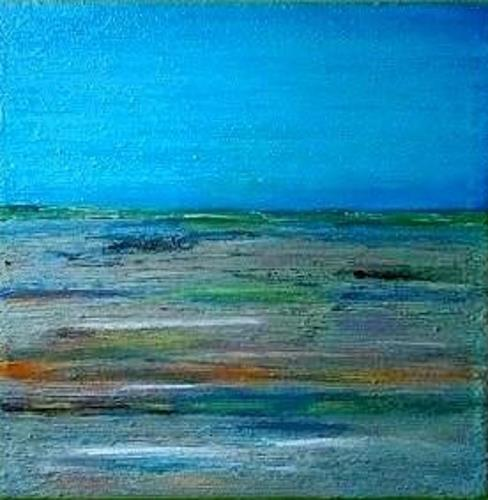 Marion Eßling, Colorful sea I, Landscapes: Sea/Ocean, Abstract Expressionism, Expressionism