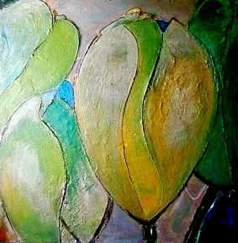 Marion Eßling, Frühjahr 2018 * 3, Plants: Flowers, Abstract Art, Expressionism