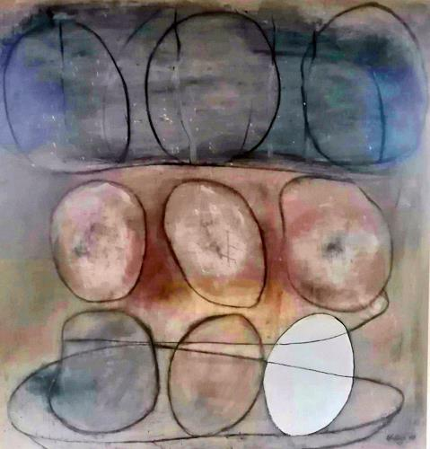 Marion Eßling, Wind-Ei, Abstract art, Abstract Art, Expressionism