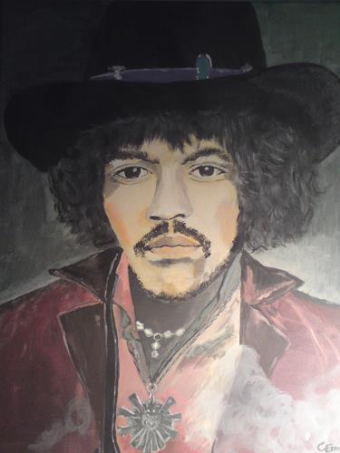 Christine Erm, Jimi Hendrix, People: Portraits, Contemporary Art