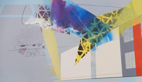 Monika Buchen, destructive elements, Abstract art, Architecture, Contemporary Art, Expressionism