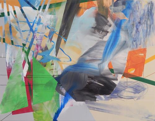 Monika Buchen, What lies ahead?, Abstract art, Architecture, Contemporary Art, Expressionism