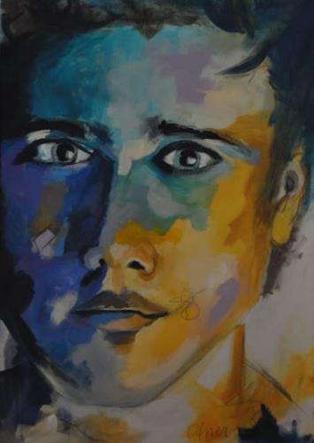 Barbara Ofner, Männer I, People: Faces, People: Portraits, Pop-Art