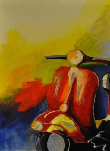 Barbara Ofner, Nostalgie, Traffic: Motorcycle, Still life, Contemporary Art