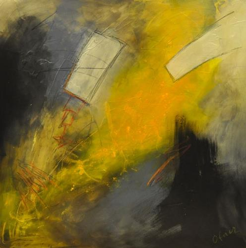 Barbara Ofner, Gelbe Kraft, Abstract art, Decorative Art, Abstract Art, Expressionism