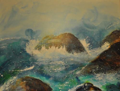 Barbara Ofner, Die Kraft, Nature: Water, Landscapes: Sea/Ocean, Contemporary Art