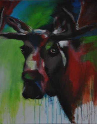 Barbara Ofner, Elch, Animals: Land, Decorative Art, Contemporary Art